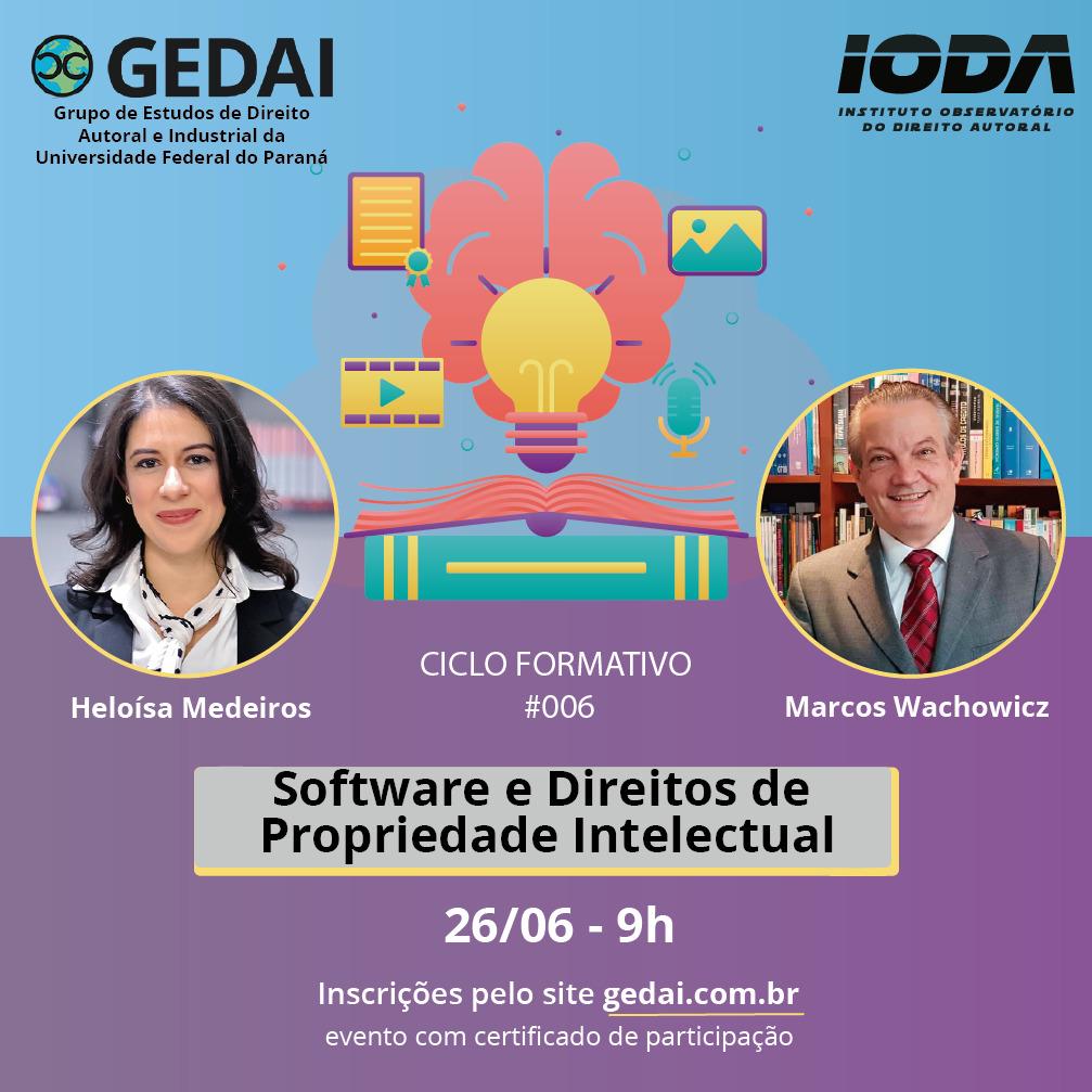 Ciclo Formativo #006 Software e Direitos da Propriedade Intelectual